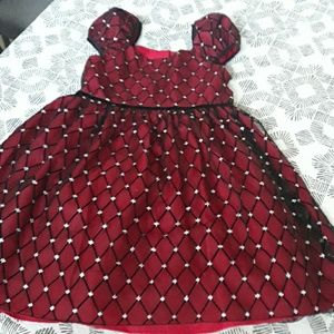 Beautiful sparkly red & black holiday dress